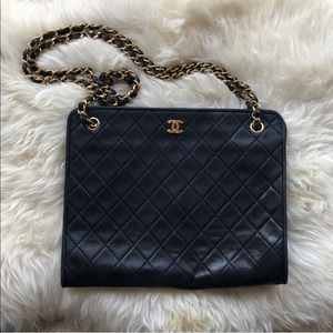 Vintage Black CHANEL Shoulder Bag